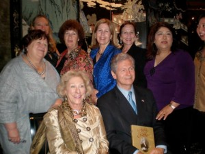 Dinner at the University Club with Michel Escoffier